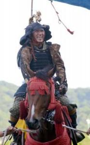 横山典・蛯名・田辺騎手が甲冑姿で相馬野馬追PR