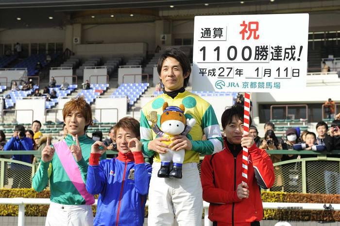 幸英明騎手がJRA通算1100勝を達成!