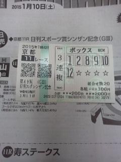 keiba 1420897183 1801 - 【GIII】 1/11(日) 第49回 シンザン記念