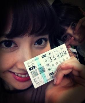 keiba 1436079592 25005 - AKB48小嶋陽菜が三連単五頭BOXで751倍的中!