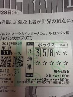 keiba 1448338164 19902 - 2015年ジャパンCのサイン